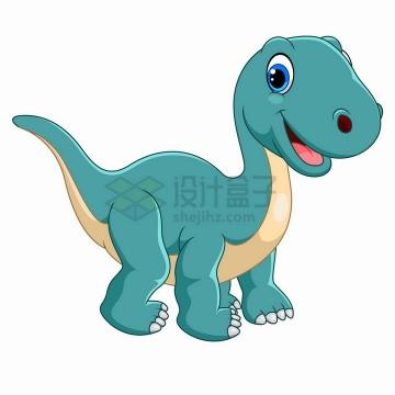 雷龙恐龙可爱卡通动物png图片免抠矢量素材