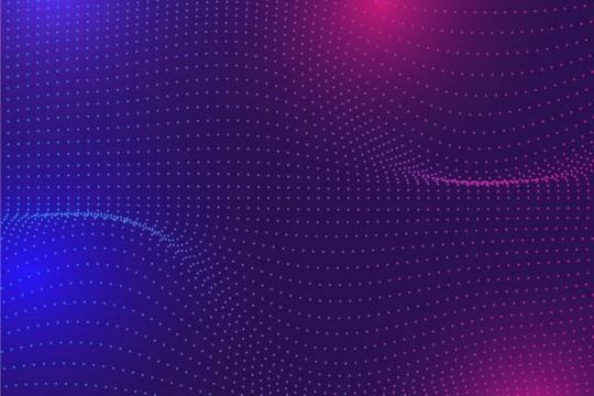 唯美风格波动的彩色粒子效果背景图免抠图片素材