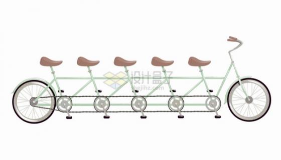 卡通多人自行车png图片素材