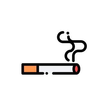 MBE风格燃烧的香烟禁止抽烟图片免抠素材