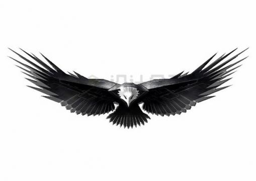 钢铁组成的白头海雕雄鹰展翅png图片素材