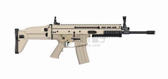 PUBG绝地求生吃鸡游戏中的SCAR突击步枪png图片免抠矢量素材