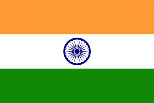 标准版印度国旗图片素材
