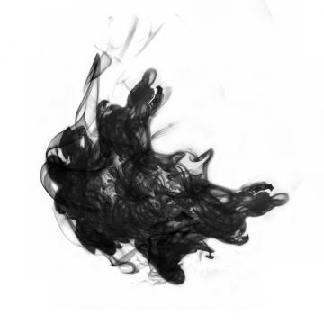 黑色的墨汁烟雾效果182211png图片素材