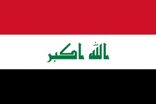 标准版伊拉克国旗图片素材