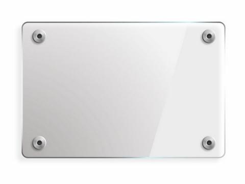 半透明的长方形玻璃面板png图片免抠eps矢量素材