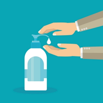扁平化风格用洗手液勤洗手png图片免抠矢量素材