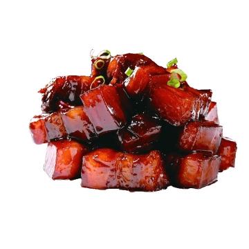 加了葱花的美味红烧肉png图片免抠素材