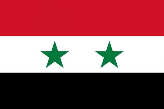 标准版叙利亚国旗图片素材