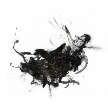 黑色的墨汁烟雾效果848961png图片素材