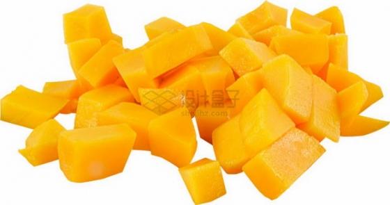 切成小块的水仙芒果png图片素材
