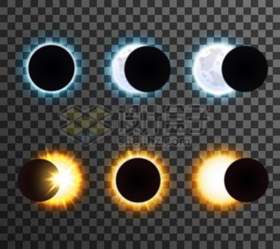 日全食和月全食示意图879252png矢量图片素材
