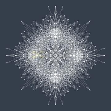 杂乱无章的白色圆点和线条组成的抽象图案png图片免抠矢量素材