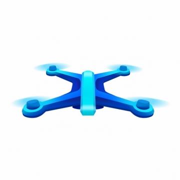 蓝色四轴无人机科技感十足252228png图片素材
