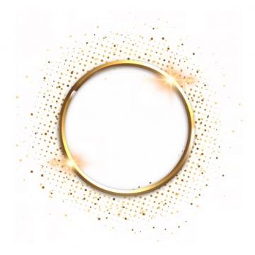 金色金属色圆环和发光装饰231313png图片素材