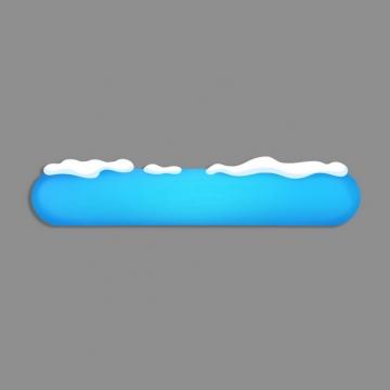 白色积雪和蓝色水晶玻璃效果圆角按钮386921png图片素材
