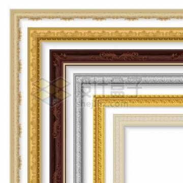 6款复古风格皇家相框边框516384png矢量图片素材