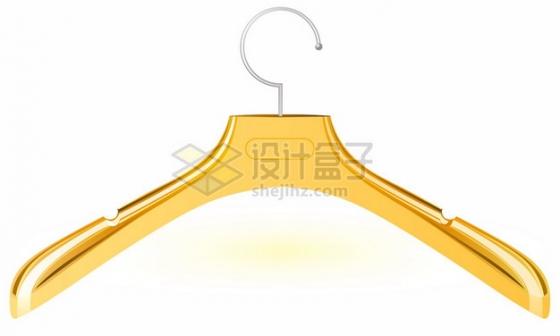 金色的晾衣架嗮衣架png图片素材