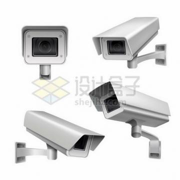 监控摄像头高清摄像机的四个视角383540png矢量图片素材