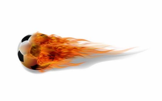 燃烧的飞行足球图片png免抠素材
