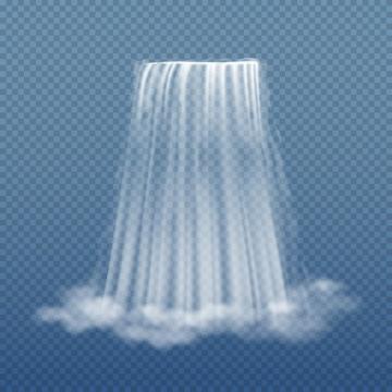半透明的流水瀑布效果图片免抠矢量素材
