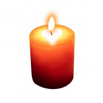 燃烧火焰的红色蜡烛5352594png图片素材