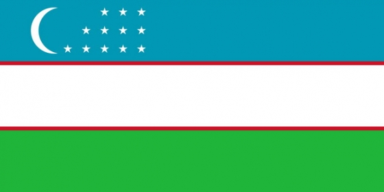 标准版乌兹别克斯坦国旗图片素材
