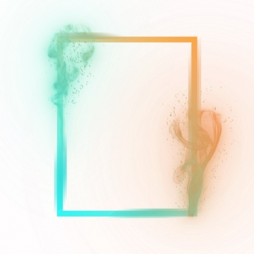抽象双色边框方框烟雾效果883323png图片素材