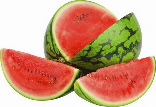 切开的早春红玉西瓜红瓤png图片素材