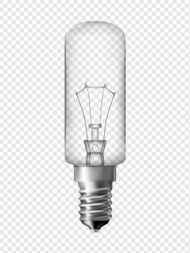 一颗圆柱形的电灯灯泡图片免抠素材
