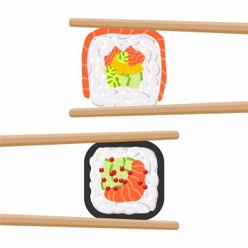 筷子夹住的寿司日式料理美食png图片免抠矢量素材