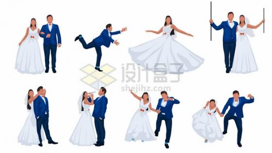 情侣结婚拍婚纱照摆pose集锦424462png矢量图片素材