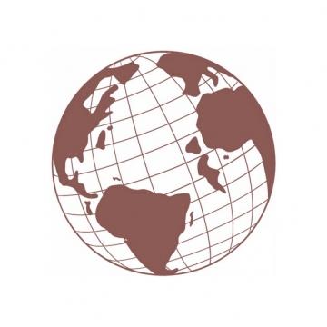 褐色的经纬线地球图案506649图片素材