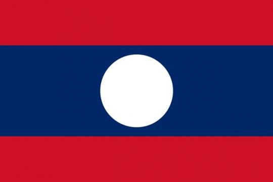 标准版老挝国旗图片素材