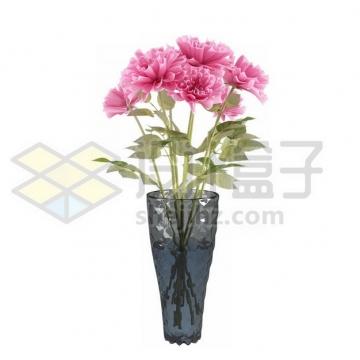 花瓶里盛开的粉色花朵640705psd/png图片素材