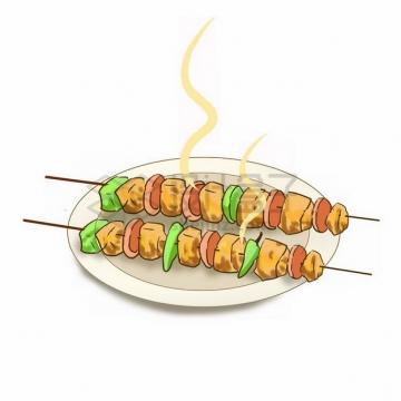 盘子里的烤串烧烤639212png免抠图片素材