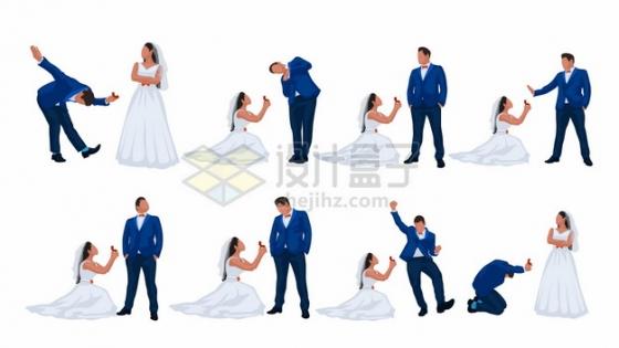 情侣结婚拍婚纱照模仿求婚摆pose集锦104667png矢量图片素材