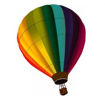 彩色条纹热气球804738png图片素材