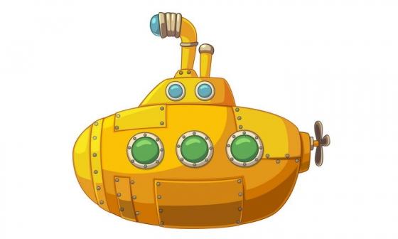 可爱的卡通黄色潜水艇图片免抠素材