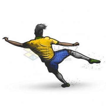 踢足球的球员彩绘漫画插画508451png图片素材