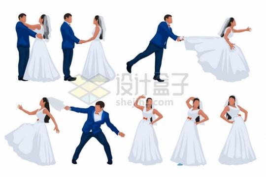 情侣结婚拍婚纱照摆pose集锦877283png矢量图片素材