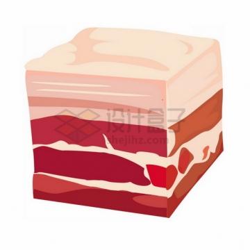 切成块的五花肉猪肉插画902163png免抠图片素材