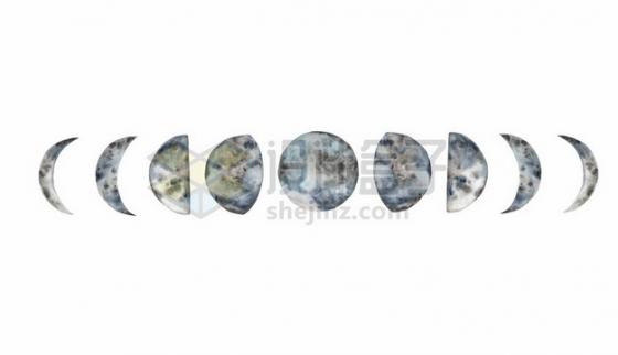 月球月相变化图240032图片免抠矢量素材