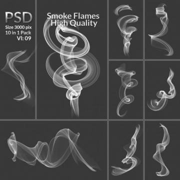 10款缥缈的白色烟雾效果图片免抠素材合集