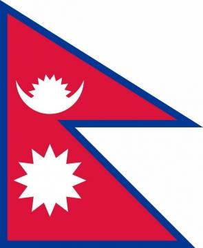 标准版尼泊尔国旗图片素材