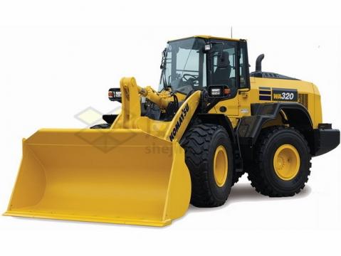 黄色的大型铲车png图片素材