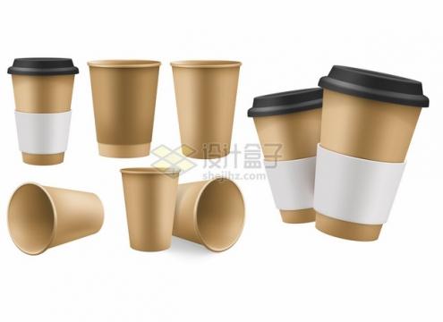 各种纸杯子一次性咖啡杯849173png图片素材