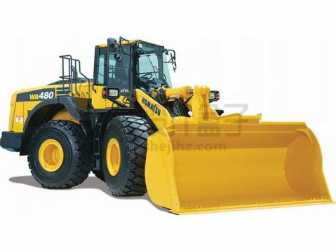 大型黄色铲车png图片素材