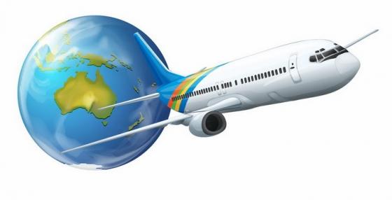 抽象风格飞离地球的飞机大型客机png图片免抠eps矢量素材
