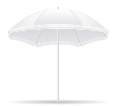 白色海滩旅游遮阳伞沙滩伞图片免抠素材
